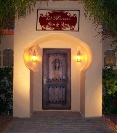 The almost hidden front door at the El Morocco Inn & Spa