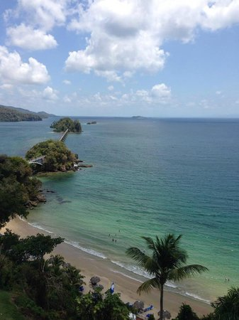 Grand Bahia Principe Cayacoa : View from room 404 of bridge to nowhere from balcony