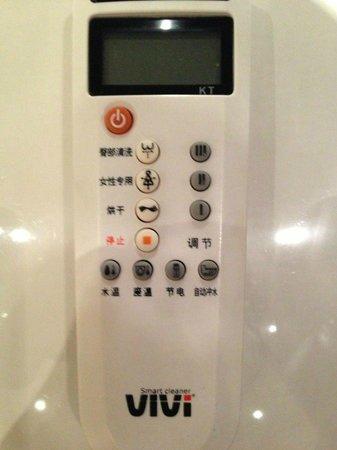 International Hotel Sayen: Fernbedienung der Toilette :-)