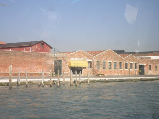 Fornace Mian: Views coming into Murano on our water bus!