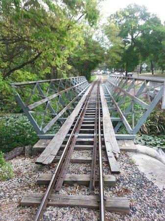 San Antonio Zoo Eagle Train: Second river crossing
