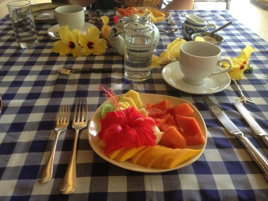 The Dutch House: Breakfast fruit platter