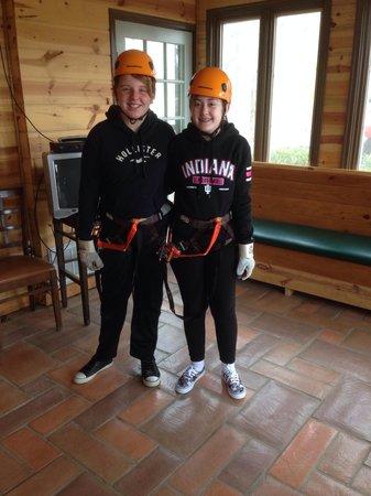 Wears Valley Zipline Adventures: The girls before ziplining!