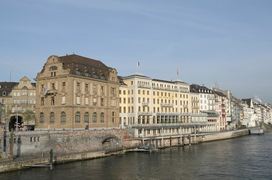 Grand Hotel Les Trois Rois : Hotel From Bridge