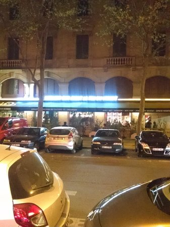 Hotel Britannique: This is the very...interesting...bar across from the hotel. It was crowded every night we were t