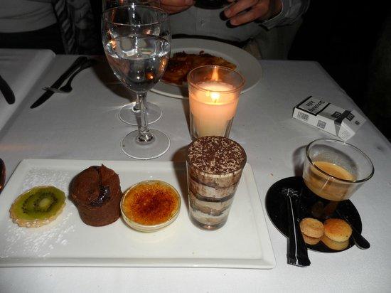 Grand Cafe De La Poste : dessert sample