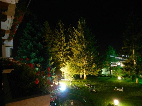 Hotel Prägant: Uitzicht vanuit de kamer op de thematuin