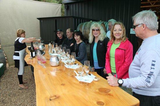 Isla Waiheke, Nueva Zelanda: tasting at Peacock Winery