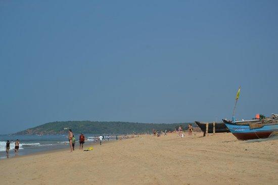 Ocean Palms Goa : пляж возле отеля