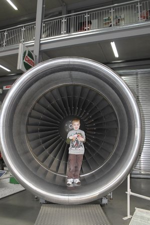 Technik-Museum Speyer: Some kind of jet engine that was fun for the kids to get a perspective of when inside.
