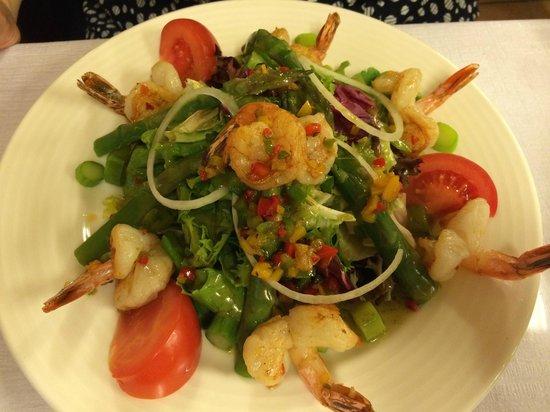 Cafe du Soleil: Salade de crevettes (shrimp salad)