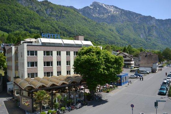 Walenstadt, Sveits: Hotel von Aussen