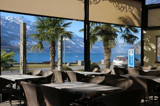 Walenstadt, Sveits: Gartenrestaurant