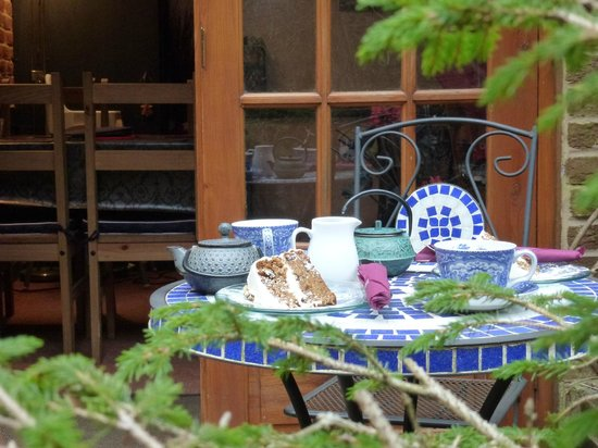 The Courtyard Tea Rooms: Secluded outdoor seating away from hustle & bustle