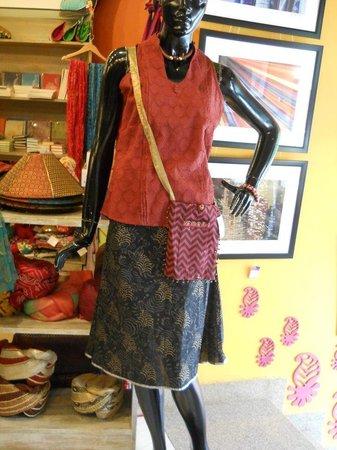 Buzzaria Dukaan: Cotton Skirt Top and Passport Bag
