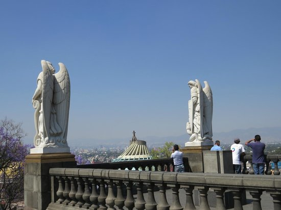 Basilica de Santa Maria de Guadalupe: view from on the hill (easy walk up steps)