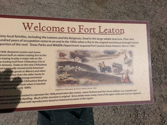 Fort Leaton: Entrance sign