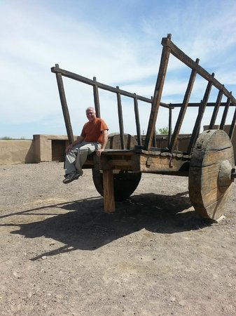 Fort Leaton: Sitting atop wagon
