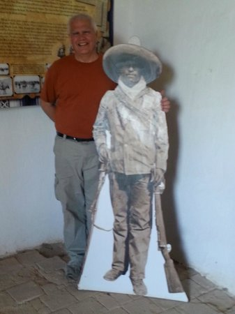 Fort Leaton: Posing with Pancho Villa