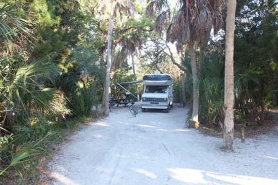 Setting Up Picture Of Fort De Soto Park Campground St