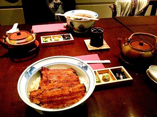 Nodaiwa : 鳗鱼茶渍饭套餐