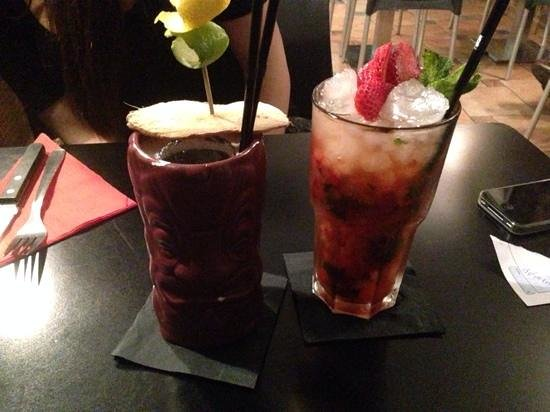 Domino Bar: limon way et mojito fraise