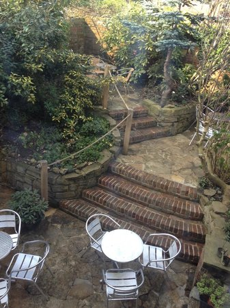 Canterbury Church Shop: Our hidden Garden, open in warm weather.