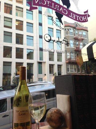 Hotel Carlton, a Joie de Vivre hotel : looking out the front window