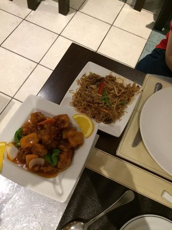 China House: sweet and sour pork and beef noodles