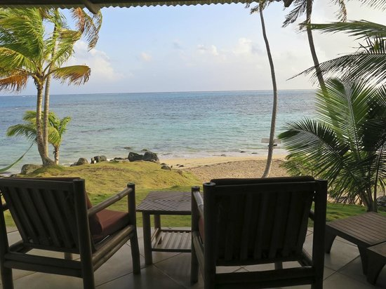 Yemaya Island Hideaway & Spa : The view from our deck (Cabana #5).