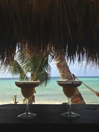 Yemaya Island Hideaway & Spa : The view from the beach bar.