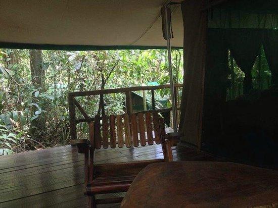 Hacienda Pozo Azul: tent's deck