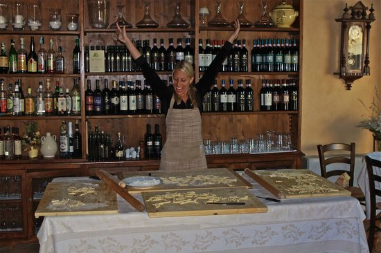 Villa Cicolina: After Learning How To Make Fusilli Inside The Restaurant!