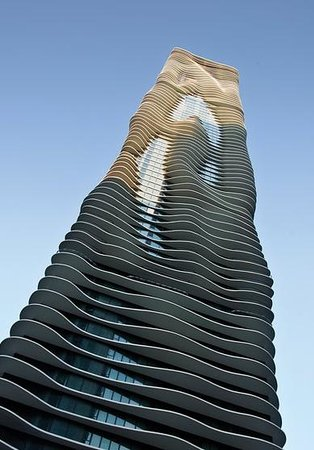 Chicago Line Cruises: The Aqua Building - one of Chicago's newest Architectural Gems