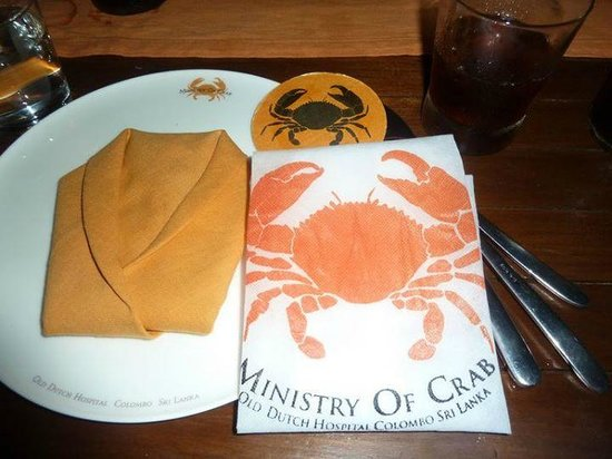 Ministry of Crab: Comes with Apron to protect your wear