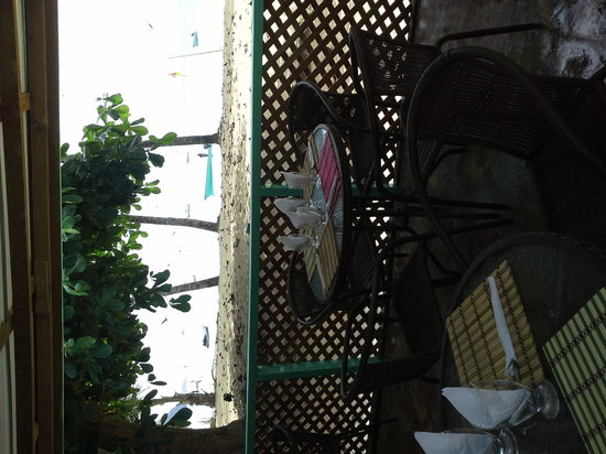 D'Almond Tree Restaurant : just footsteo away from the water @ d 'almond tree restaurant