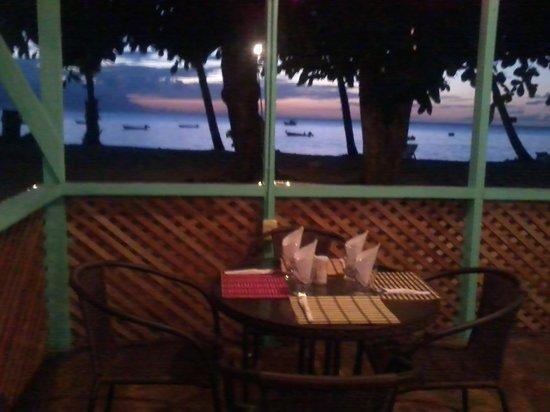 sunset @d'almond tree restaurant