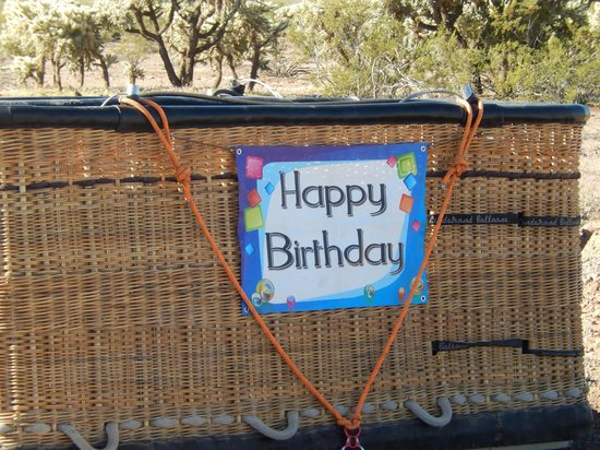 Hot Air Expeditions: Nice touches for birthdays