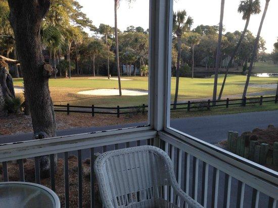 Wyndham Ocean Ridge : Screened in porch overlooking golf course