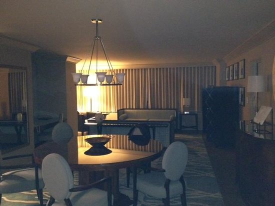 The Marquette : Dining and living area of Pres Suite