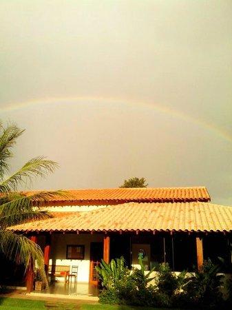 Pousada Surucua: Arco-íris na Pousada Surucuá - Bonito/MS