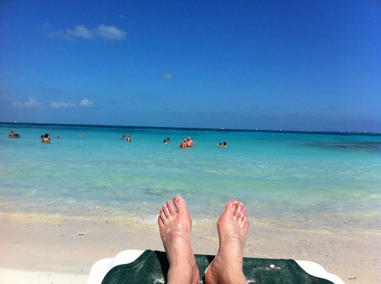 Hotel Riu Palace Las Americas : Calm Water Beach - Good For Snorkeling