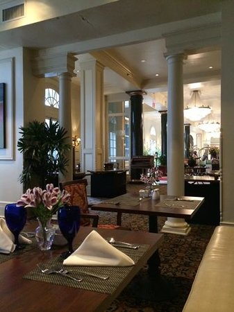 Roux on Orleans: From restaurant looking toward hotel lobby