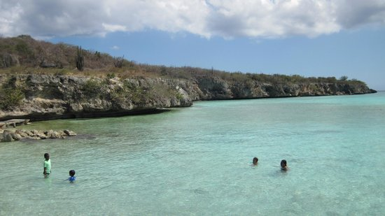 Playa Porto Marie : Snorkelling Best along the left side of the bay