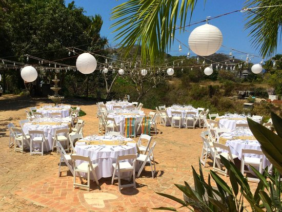 Villa Amor: Gran Villa Patio reception set up