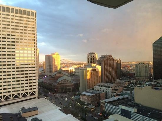 New Orleans Marriott: view to Canal Street from 20th Floor room