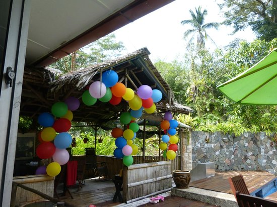 Planet Borneo Lodge: Birthday party decoration