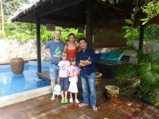 Planet Borneo Lodge: family Dellien from Sweden