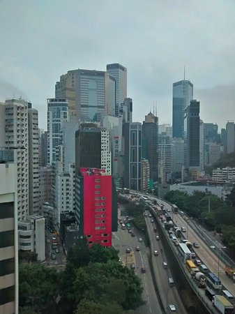 Dorsett Wanchai, Hong Kong: View from our suite. Next to a highway but we didn't encounter any noise problem.