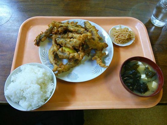 Ramen Tairyo: わかさぎ唐揚定食